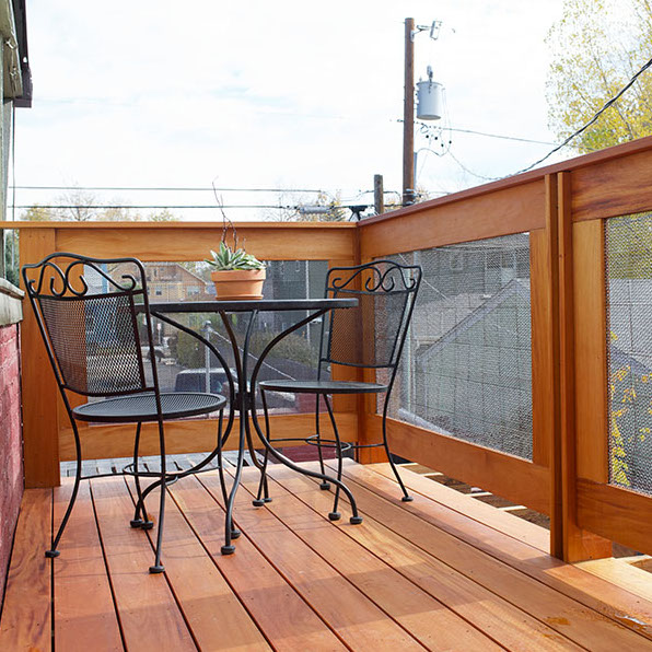 BookBed Denver vacation rental private balcony